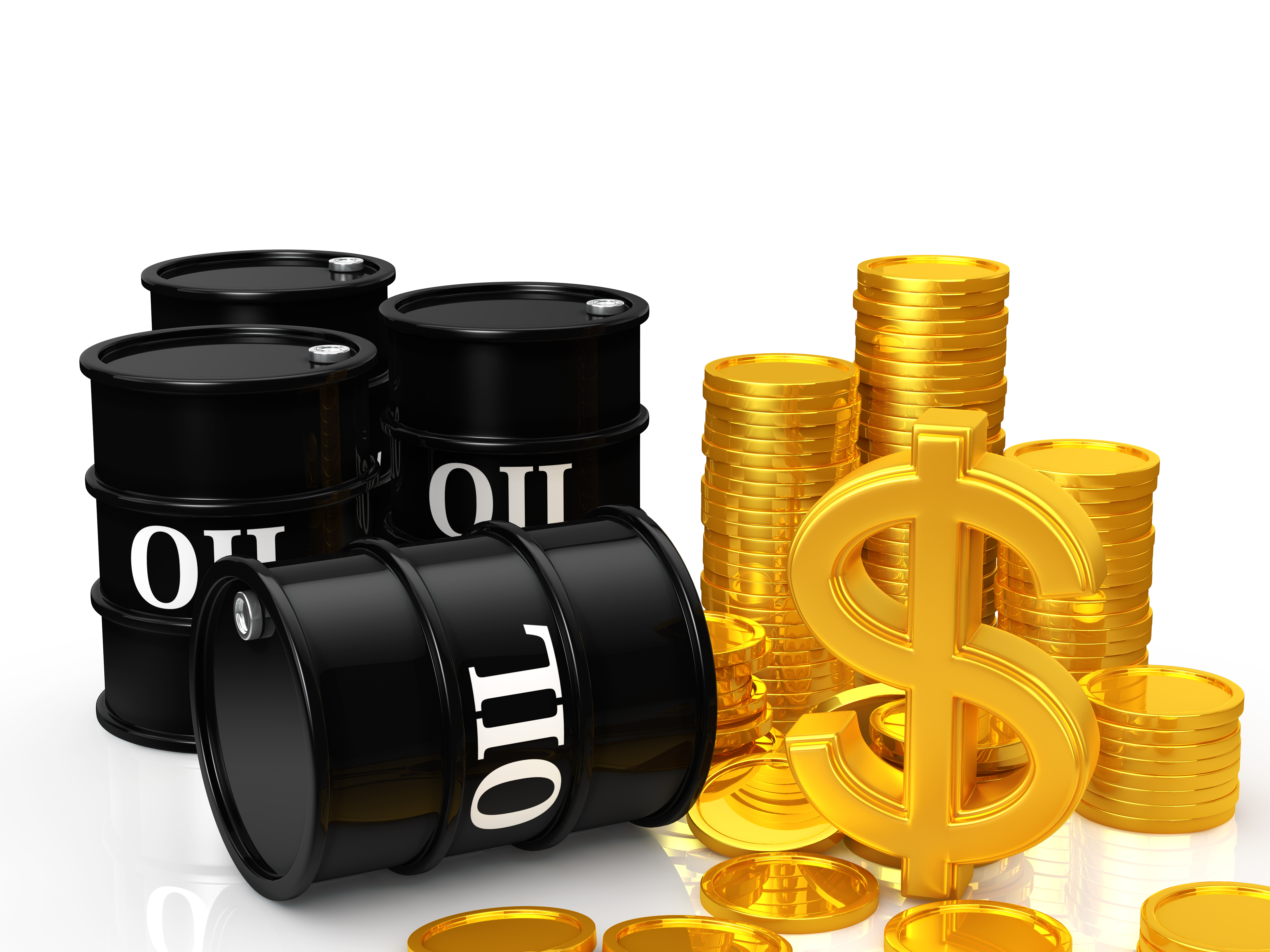 oil barrel and money