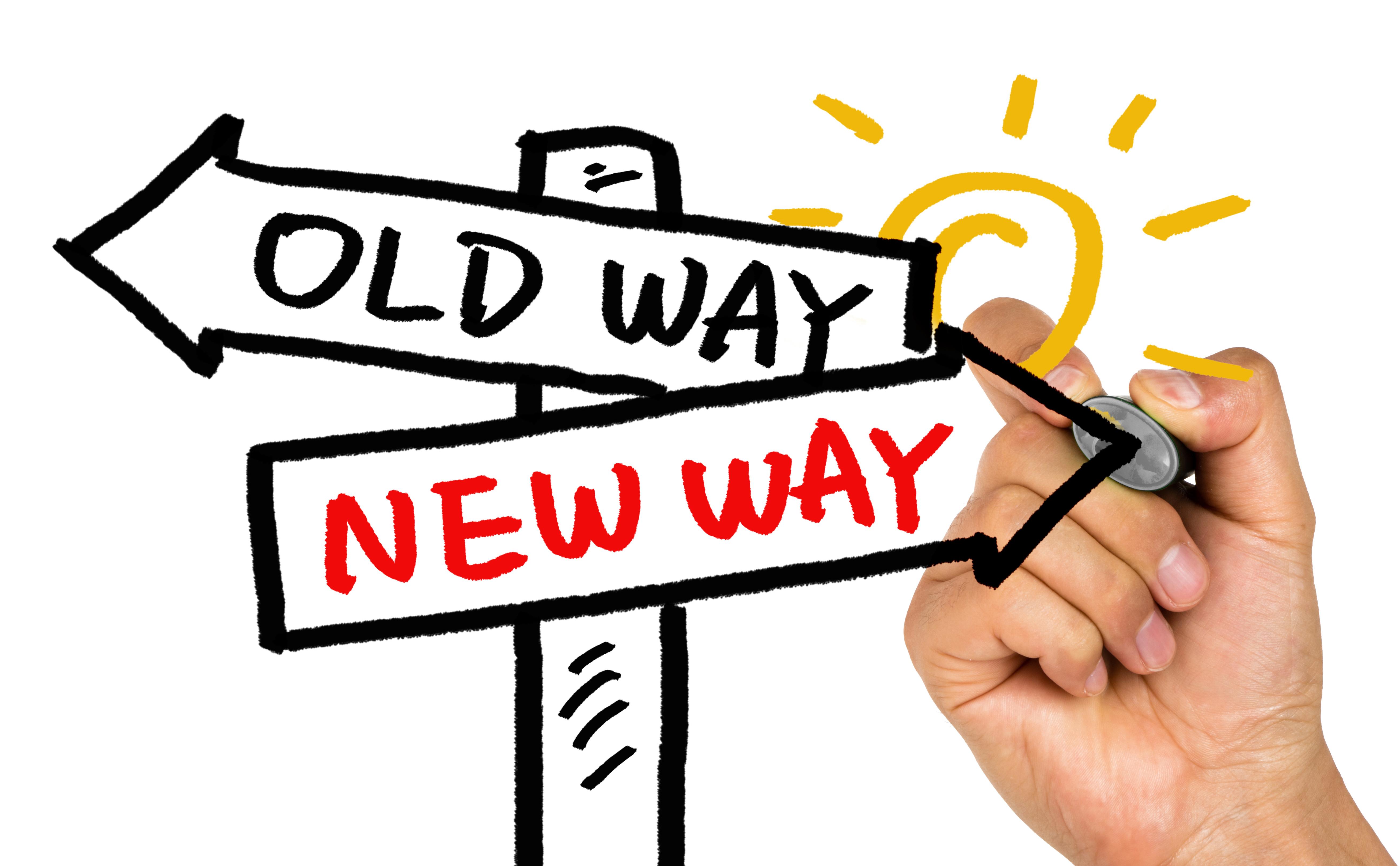 choose new way concept