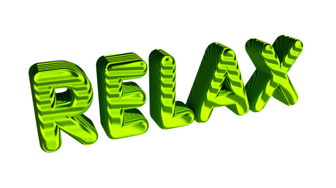 Relax text isolated on the white.